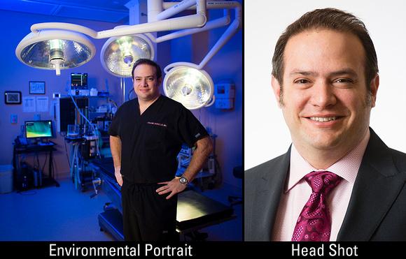 Headshot vs Environmental Portrait