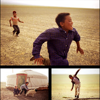 Mongolia Kids Playing